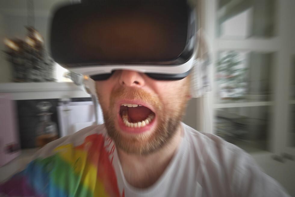 SPENNENDE: Dreadhalls er ett av fem anbafelte spill til Gear VR. Det fikk oss til å skrike høyt. Foto: PÅL JOAKIM OLSEN