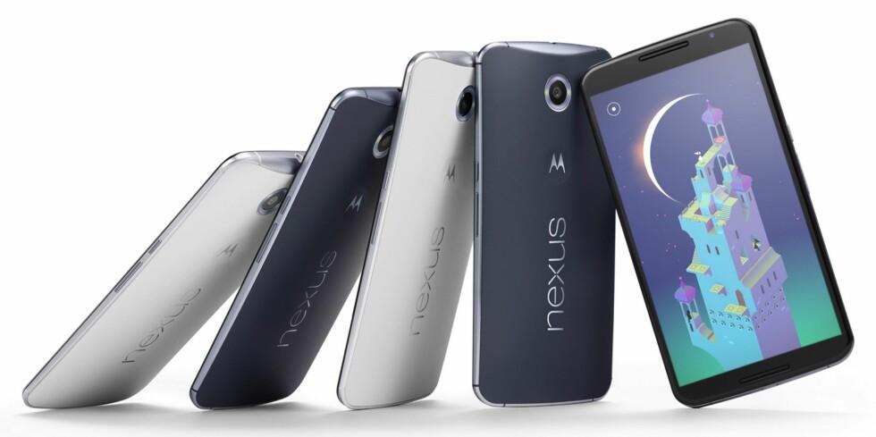 FØRST: Nexus 6 ble lansert med siste versjon av Android og blir sannsynligvis den første som blir oppgradert i neste runde også.