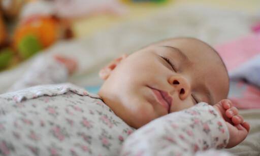 TRYGGHET: Alle foreldre ønsker å følge med når de minste sover. FOTO: FRANK MAY/NTB SCANPIX
