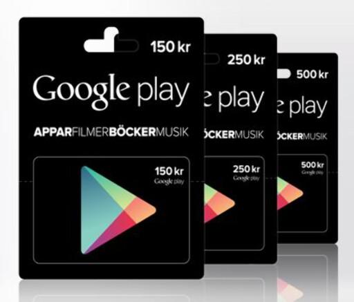 GOOGLE-GAVER: Google tilbyr som Apple generelle gavekort. Foto: GOOGLE