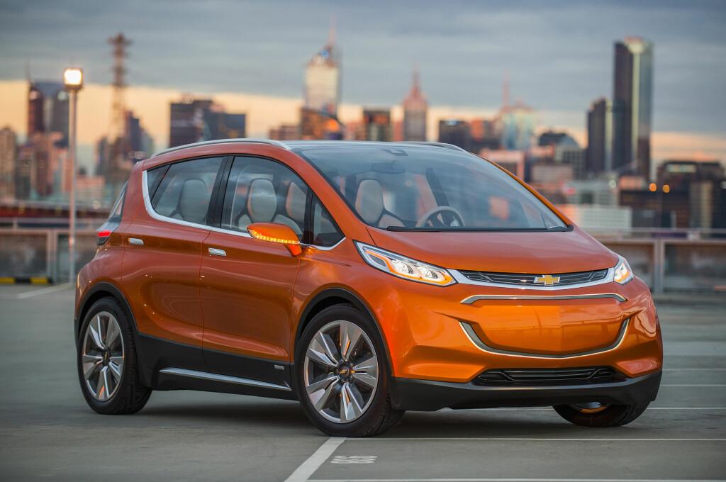 FØR-BOLT: Her er bilen som konseptbil, som den ble vist for et år siden. Som vi ser blir produksjonsbilen ganske lik den. Foto: GENERAL MOTORS