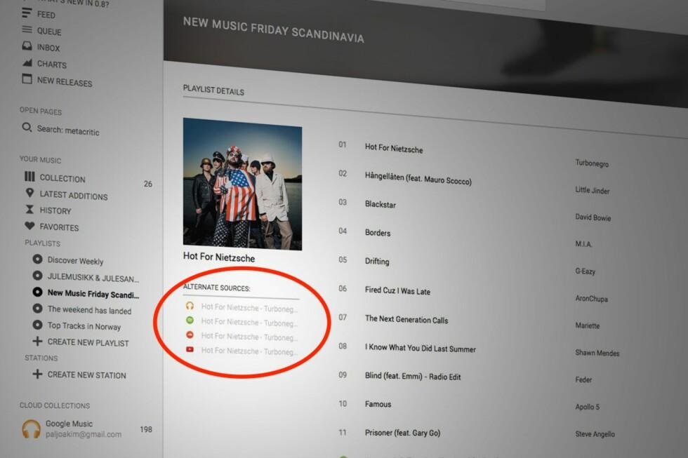 SAMLER ALT: Tomahawk spiller musikken om den ligger på harddisken din, på YouTube, på Spotify eller hvor det måtte være. Foto: PÅL JOAKIM OLSEN