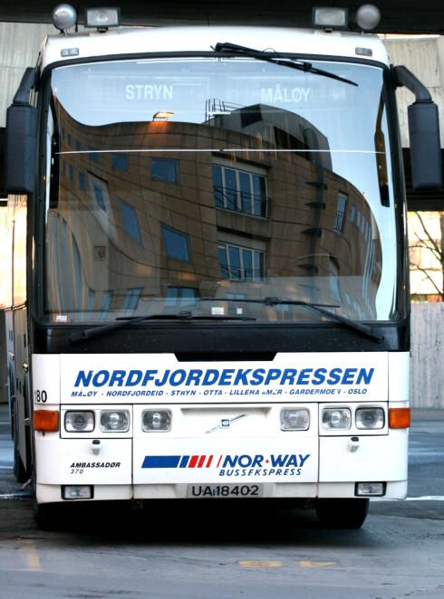 SEND PAKKEN MED BUSSEN: Levering tar den tiden bussen bruker på strekningen. Du må levere pakken på bussen, og noen må hente den på stasjonen.  Foto: NTB SCANPIX