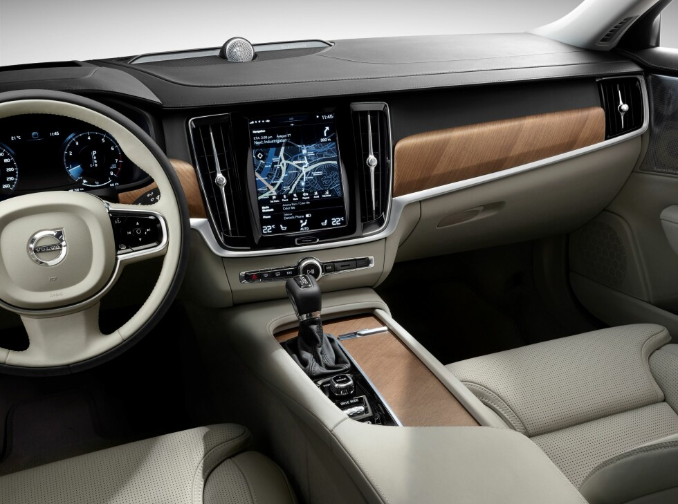 KUN AUTOMAT: Volvo vil kun by på automatgir i nye S90 Foto: VOLVO