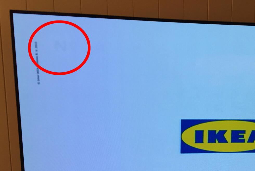 Logoen til TVNorge var best synlig på lyse bakgrunner. Foto: Privat/Morten Knutsen