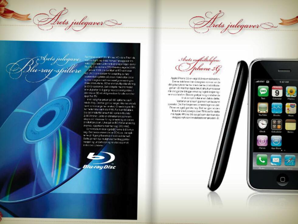 VINNER 2008: Blu-ray-spillere, sammen med blant annet iPhone 3G. Foto: ELEKTRONIKKBRANSJEN