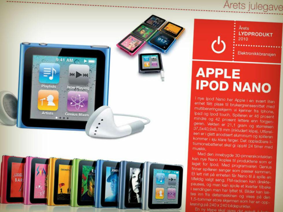VINNER 2010: iPod Nano. Foto: ELEKTRONIKKBRANSJEN