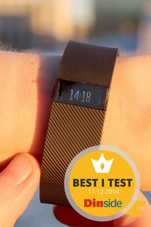 FAVORITTEN: Av treningsarmbåndene vi har testet til nå, er Fitbit-armbåndet det beste. Foto: OLE PETTER BAUGERØD STOKKE