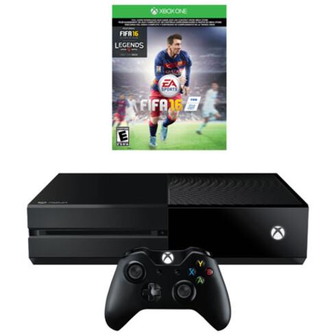 BILLIGST: Skal du ha en Xbox One denne jula, får du utgaven med Fifa 16 til 2290 kroner hos NetOnNet –med gratis frakt.