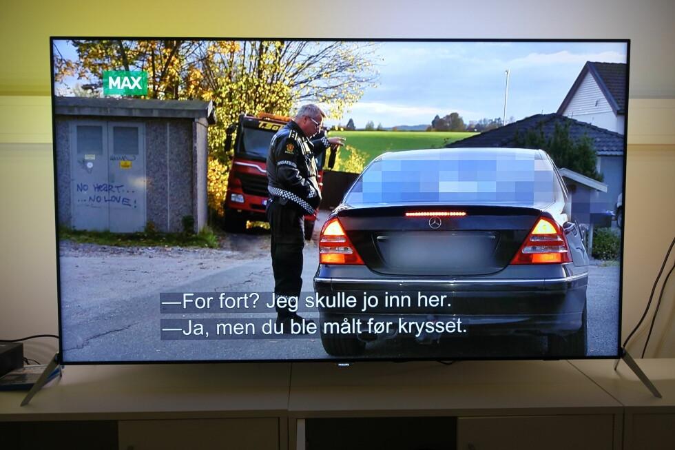 TV-sending: TV-bildet skaleres fint, og Philipsen skviser ut så mange detaljer at bildet får en fin dybde. Foto: ØYVIND PAULSEN