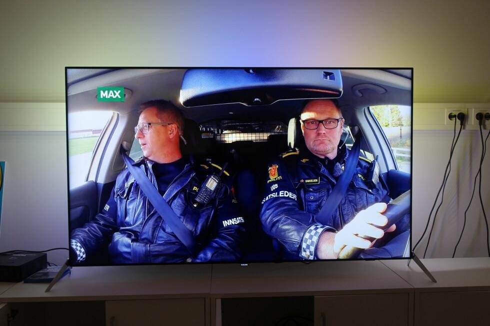 TV-sending fra MAX: TV-bildet skaleres fint, og Philipsen skviser ut så mange detaljer at bildet får en fin dybde. Foto: ØYVIND PAULSEN