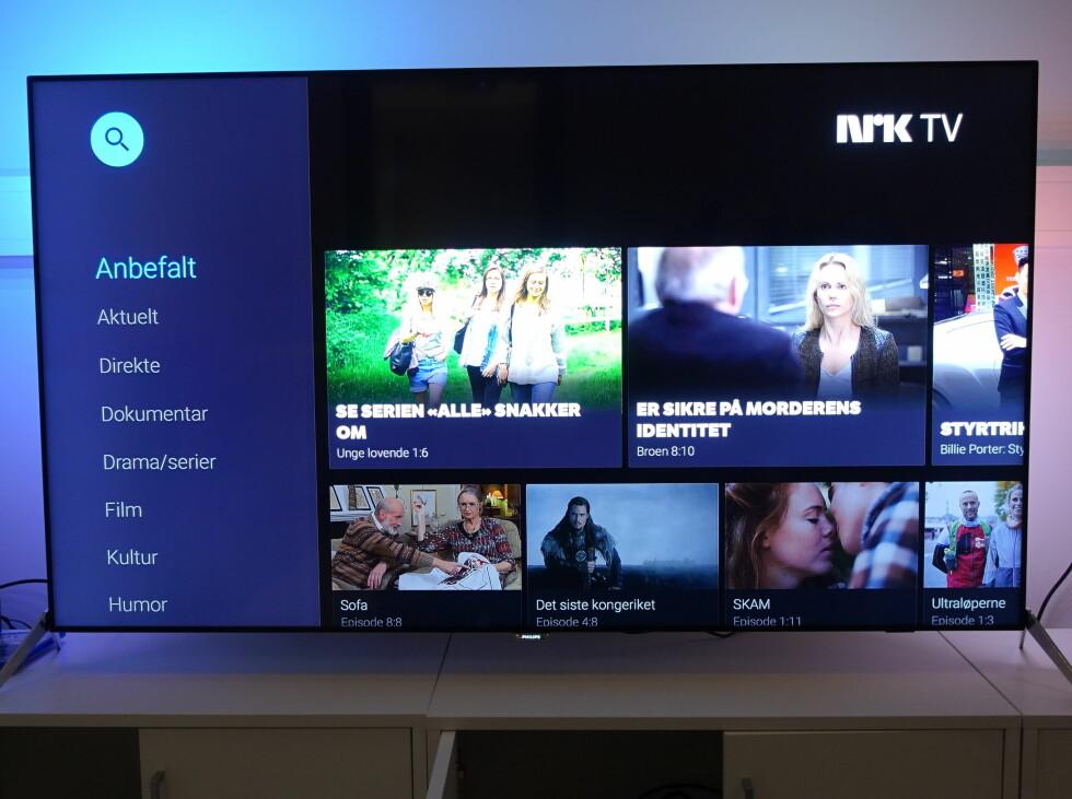 NRK-appen er imidlertid oversiktlig og god. Foto: ØYVIND PAULSEN