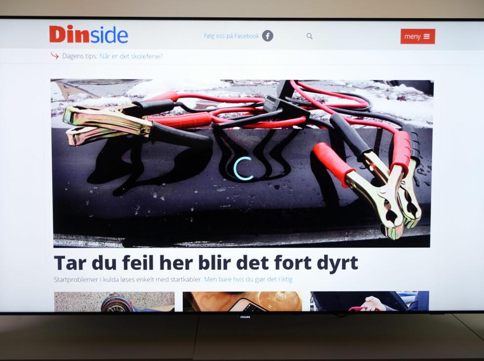 INNEBYGD NETTLESER: Joda, det fungerer bedre enn før, men det å bruke nettleseren på TV-en til å surfe er ikke så enkelt at den blir noen konkurrent til nettbrettet eller mobilen. Foto: ØYVIND PAULSEN