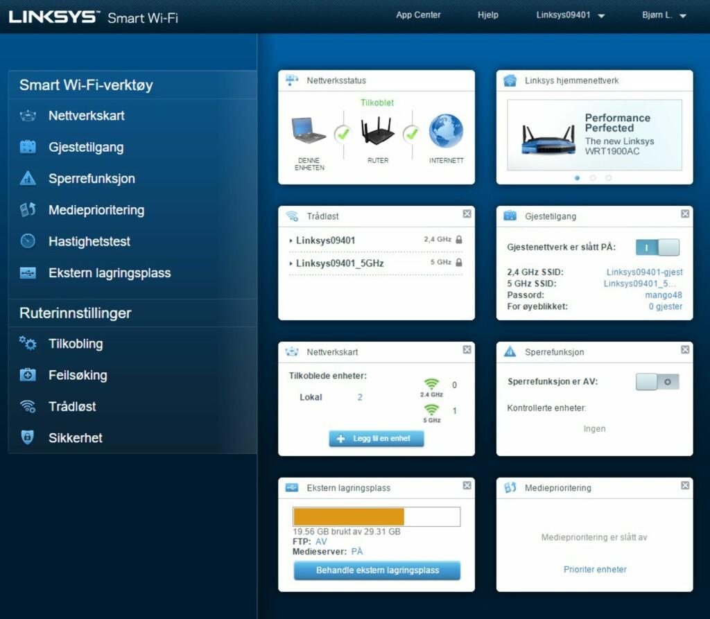 PÅ NORSK: Et lettforståelig, norsk brukergrensesnitt, hjelper deg med å få det meste ut av ruteren.
