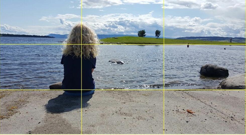 TREDELING: Prøv å plassere vitale elementer i bildet i ett av de fire kryssene. Foto: PÅL JOAKIM OLSEN