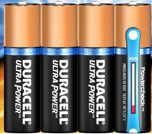 GOD NUMMER TO: Duracell Ultra Power er særlig god på lavenergiprodukter. Foto: DURACELL