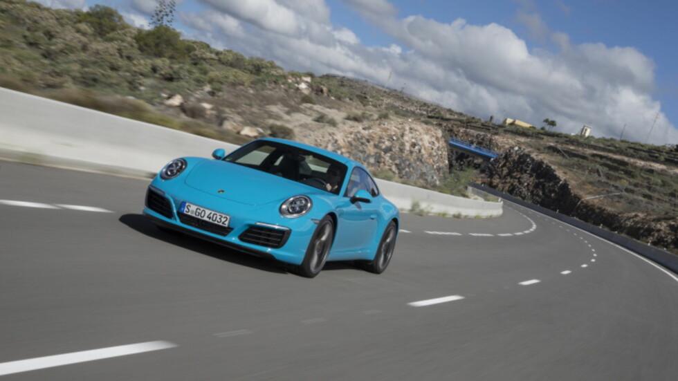 AKTIVT HJULOPPHENG STANDARD: Porsche Active Suspension Management er standard og bilen kan fås med selvstyrende bakhjul for å sikre ytterligere stabilitet. Foto: FRANK RATTRING