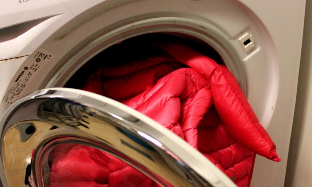 image: Slik vasker du dunjakka før kulda setter inn