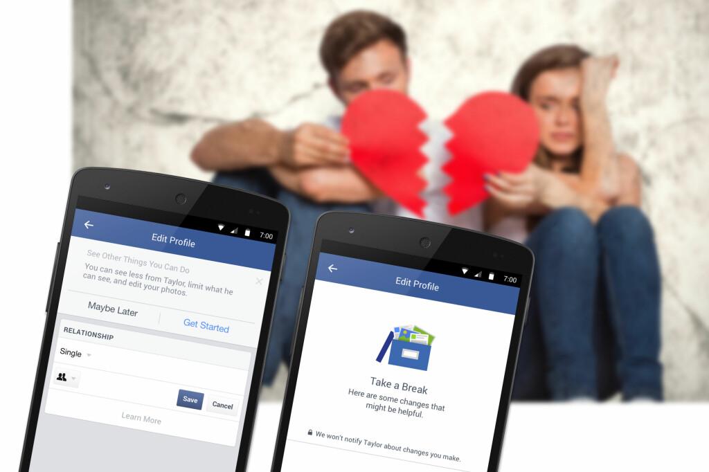 <b>NETTHJEMSØKT AV EKSEN?</b> Nå vil Facebook gjøre det lettere å «glemme» han eller henne. Foto: CRESTOCK / FACEBOOK