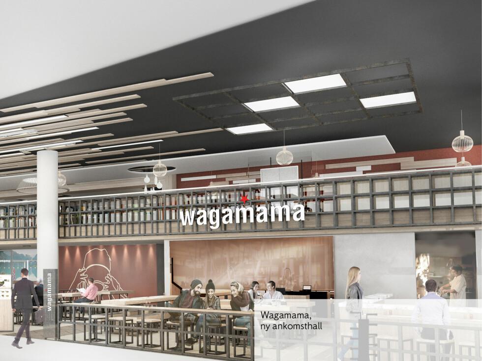 Wagamama er kjent fra andre land, med 150 restauranter i 18 land. Serverer mat fra Asia. Foto: LUXE INTERIOR INTERNATIONAL