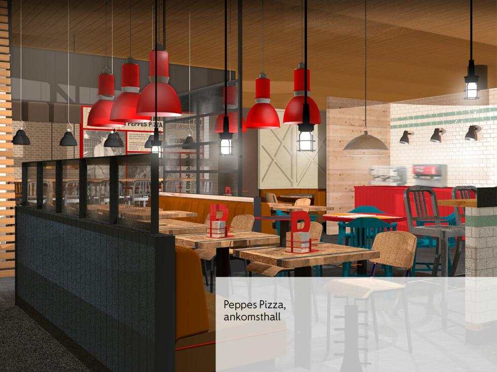 Peppes Pizza består i det nye serveringstilbudet. Foto: RISS