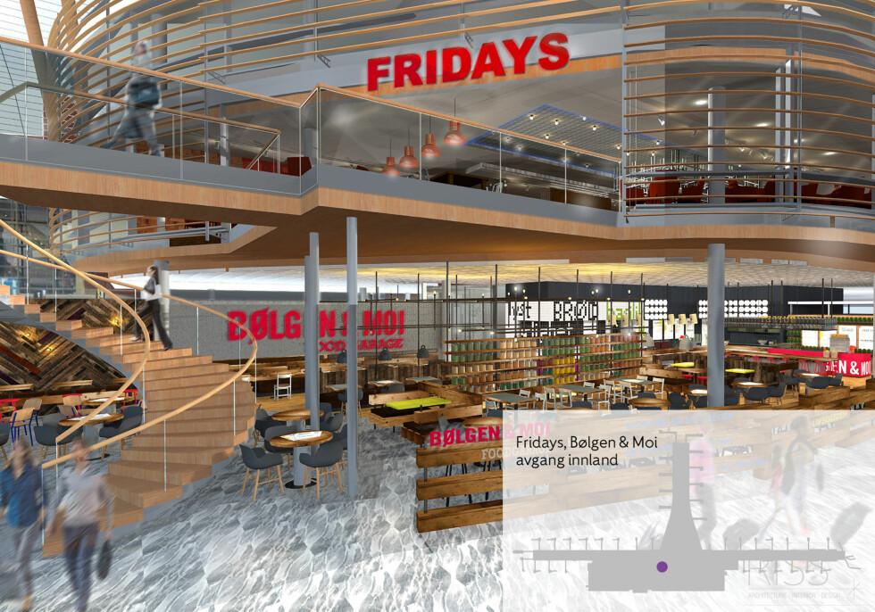 T.G.I Fridays: Amerikansk mat og drikke. Foto: RISS