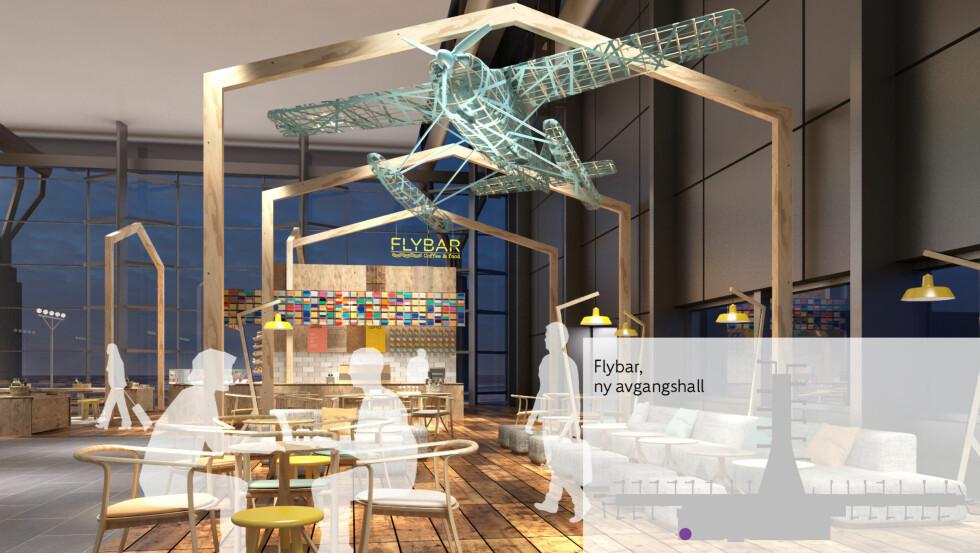 Flybar: Serverer retter fra det nordiske kjøkken. Wraps, pai, smørbrød, havregrøt med mer. Foto: UXUS