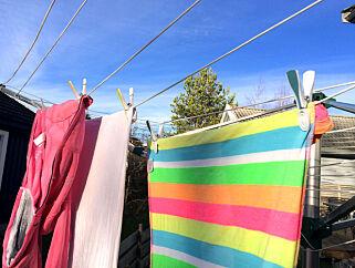 image: Jo, du kan tørke klær ute selv om det er kaldt
