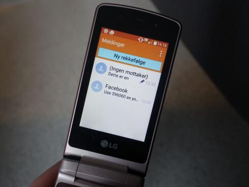 DÅRLIG SPRÅK: Ikke en gang «Ny melding»-knappen er korrekt oversatt til norsk. Foto: PÅL JOAKIM OLSEN