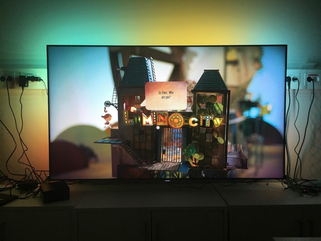 LAGET I PAPP: Lumino City er ett av de første Apple TV-spillene. Foto: PÅL JOAKIM OLSEN