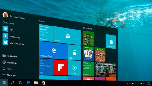 Årets Data-produkt: Windows 10  Foto: PÅL JOAKIM OLSEN