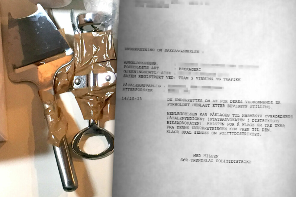 HENLAGT: Både Sør-Trøndelag og Oslo politidistrikt henla sakene mot Finn.no-svindleren, som sendte osthøvel i stedet for et kostbart kamera. Det blir ingen spesielt overrasket over.  Foto: OLE PETTER BAUGERØD STOKKE / PRIVAT