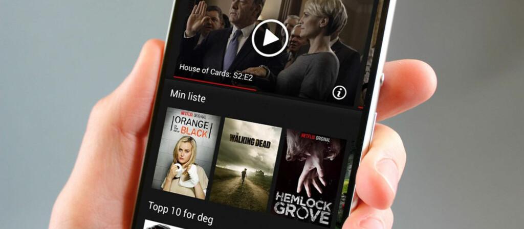 <b>BILLIGERE Å STREAME VIDEO</B>: Bruker du Netflix gjennom den nye Opera-nettleseren for Android, kan du spare kostnader ved å komprimere videoene. Foto: Dinside