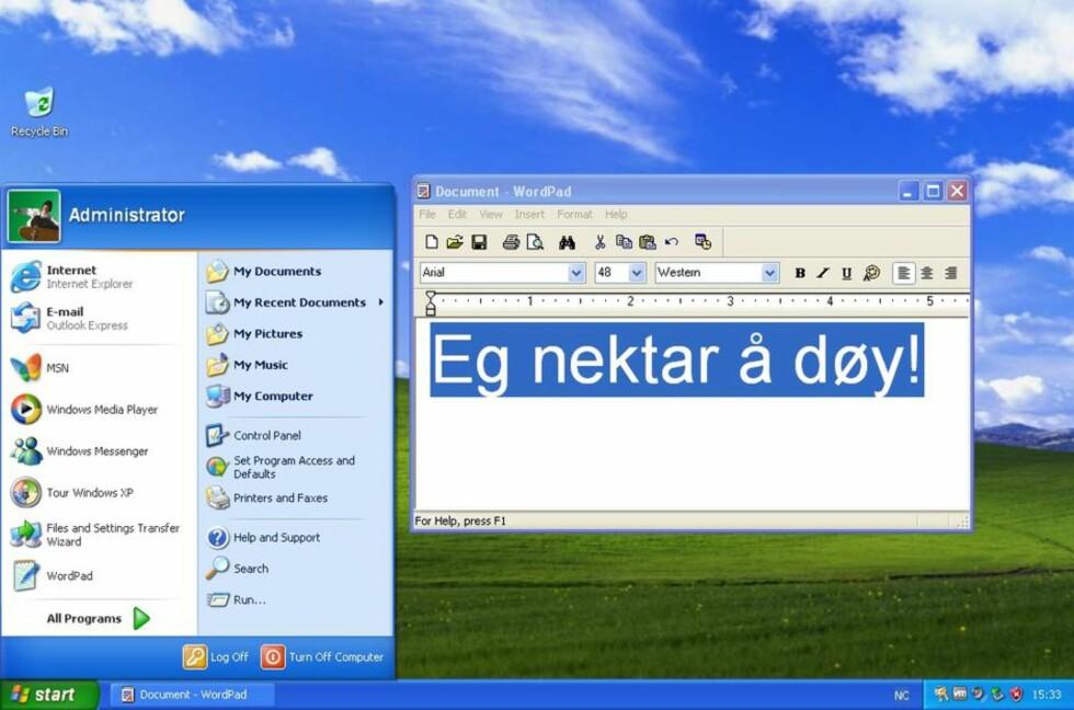 SEIGLIVET: Windows XP er fortsatt nest mest utbredt på PC-fronten.