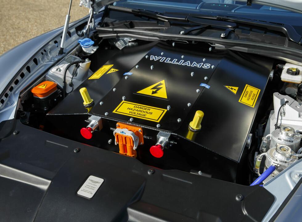 HVA ER DET? Williams Advanced Engineering står bak elektrisk innmat i dette Aston Martin-konseptet. Foto: ASTON MARTIN
