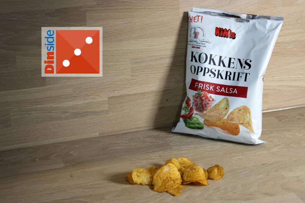 NYTT: Men vi hadde forventet noe sterkere og mer spennende av chips med salsasmak.  Foto: OLE PETTER BAUGERØD STOKKE
