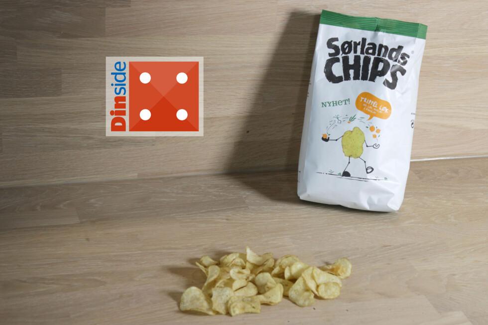 SAVNER SYRE: Chipsene med crème fraîche er hakket bedre balansert. Foto: OLE PETTER BAUGERØD STOKKEOLE PETTER BAUGERØD STOKKE