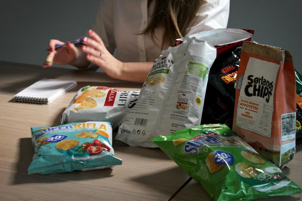 DEN NYE CHIPSEN: Det var ikke så mye å juble over da vi smakte oss gjennom den nye chipsen, men når det først var bra, var det skikkelig bra. Foto: OLE PETTER BAUGERØD STOKKE