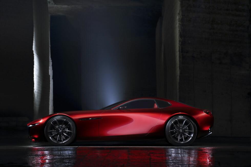 RX-7-ETTERFØLGER: Hva navnet på produksjonsbilen blir, vet vi ikke, men følger de logikken som har vært i bruk hittil, blir det Mazda RX-9. Foto: MAZDA