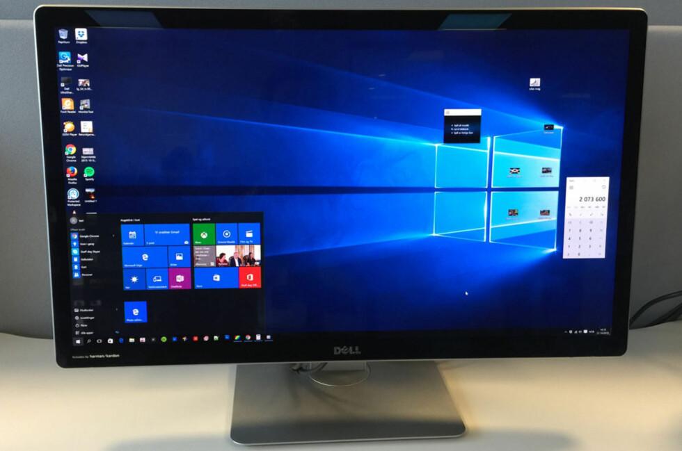 SUPERT BILDE: Dell har levert en super skjerm, men prisen er i stiveste laget, mener vi. Foto: BJØRN EIRIK LOFTÅS