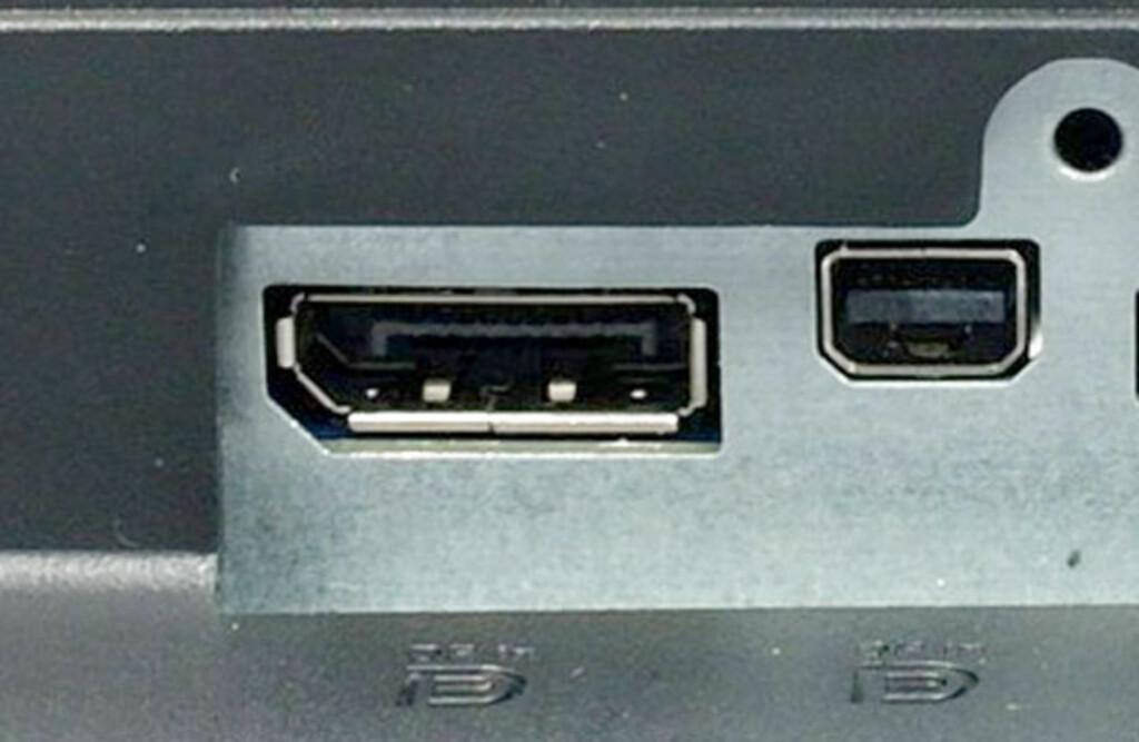 DisplayPort og MiniDisplayPort Foto: DINSIDE