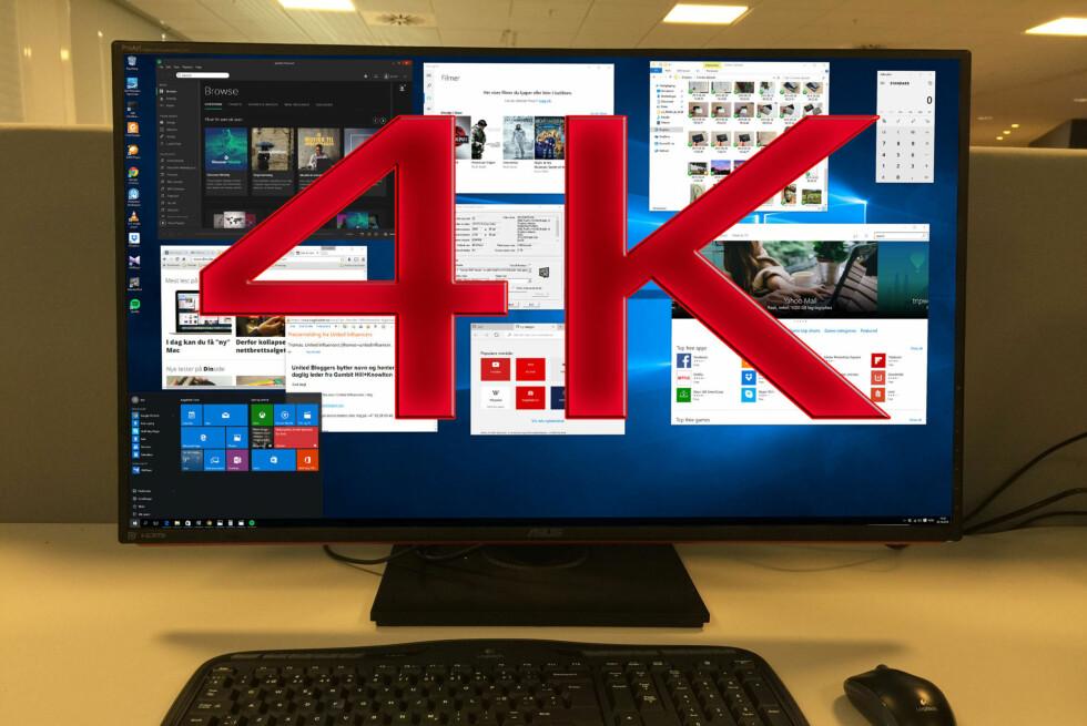 De er store, de er sylskarpe, og de stiller store krav til PC-en din. Foto: BJØRN EIRIK LOFTÅS