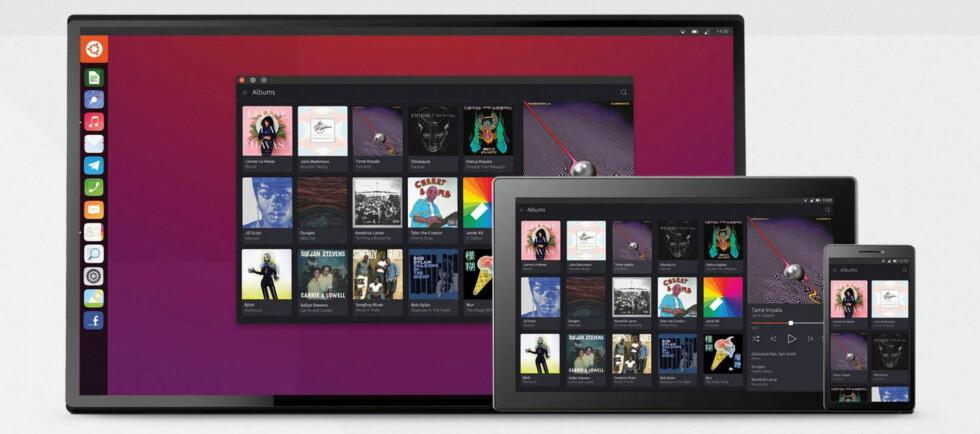 FLERE PLATTFORMER: Ubuntu kommer i versjoner for både PC, nettbrett og mobiltelefoner. Foto: Canonical