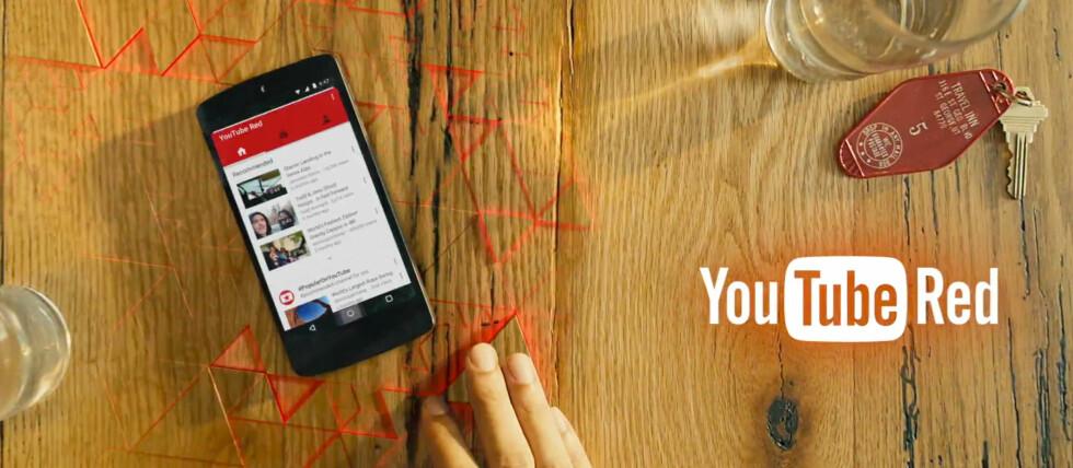 RØD YOUTUBE: Nå kommer den reklamefrie versjonen av YouTube mot en månedlig kostnad. Foto: GOOGLE
