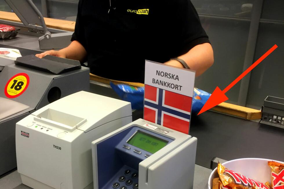 - DETTE ER Å GÅ LANGT! Her får du kun betalt i norske kroner. - Ikke la deg lure, oppfordrer forbrukerøkonom Silje Sandmæl i DNB. Foto: MARIANNE URDAHL