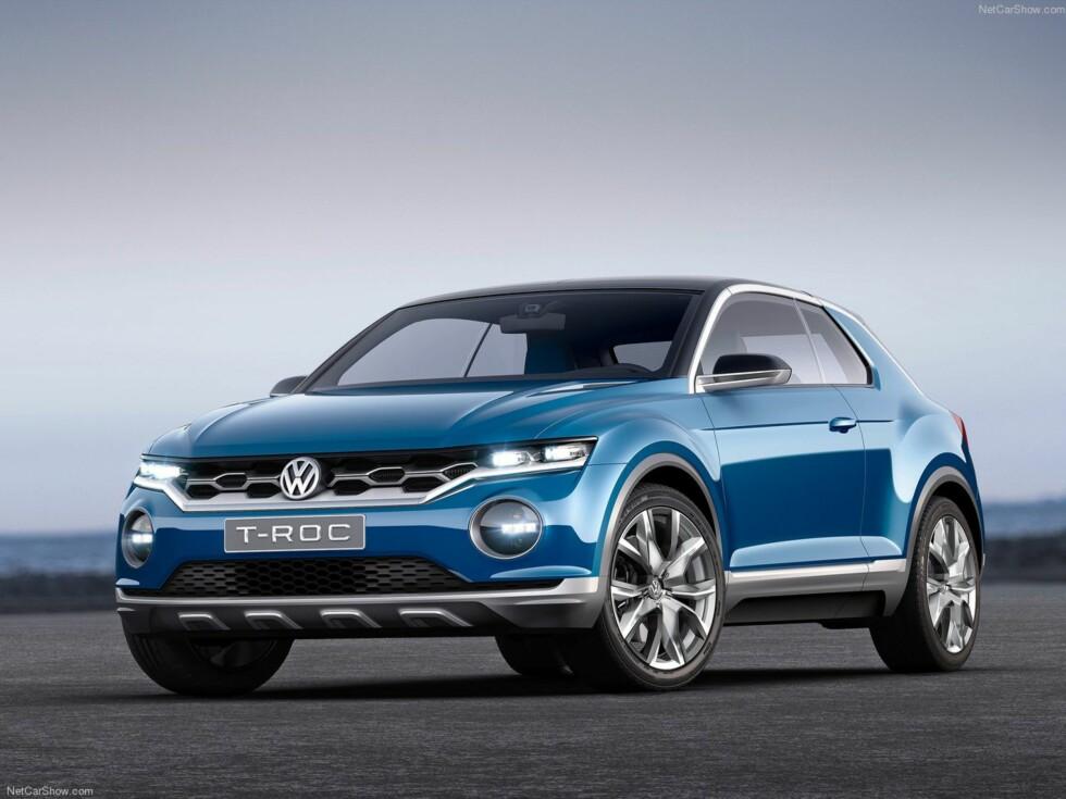 IKKE LANGT FRA: Automedia hadde utvilsomt fått pålitelig informasjon. VW presenterte selv en konseptbil ved navn T-ROC i 2014, mindre SUV og mer cross-kupé-kompaktbil.  Foto: VOLKSWAGEN