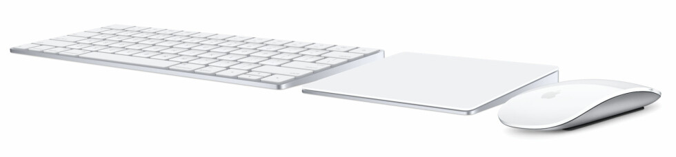 TRÅDLØST: Apples serie med trådløst Mac-tilbehør har fått en skikkelig overhaling. Foto: APPLE