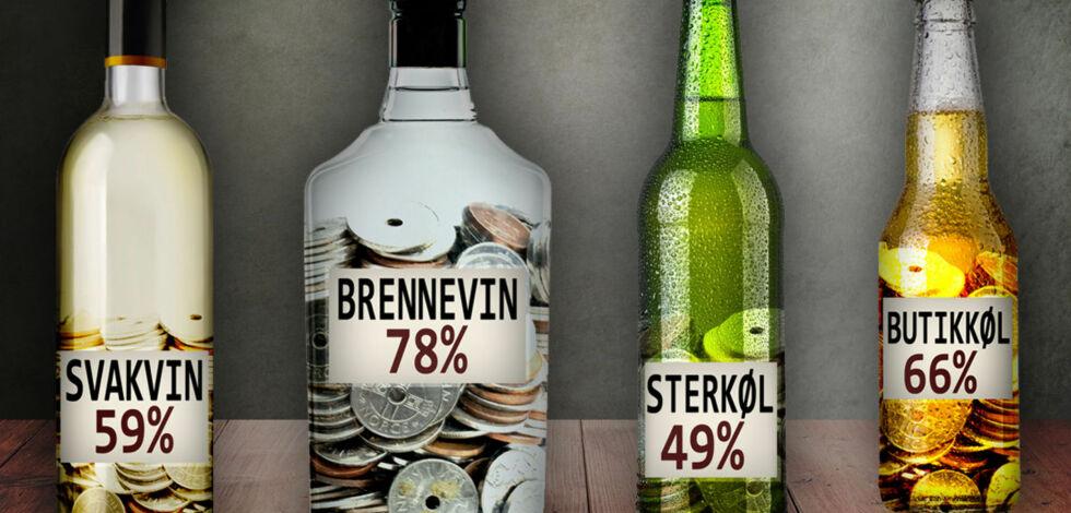 image: Så mye betaler du egentlig i avgift for alkohol
