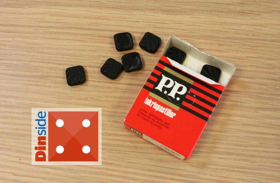 PP: Det er friskt med mentol i lakrisen, men det kunne kanskje stått litt tydeligere. Foto: MERETHE HOMMELSGÅRD
