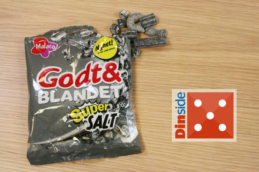 GODT & BLANDET SUPER SALT: Noen nye biter, enda saltere. Jatakk til mer! Foto: MERETHE HOMMELSGÅRD